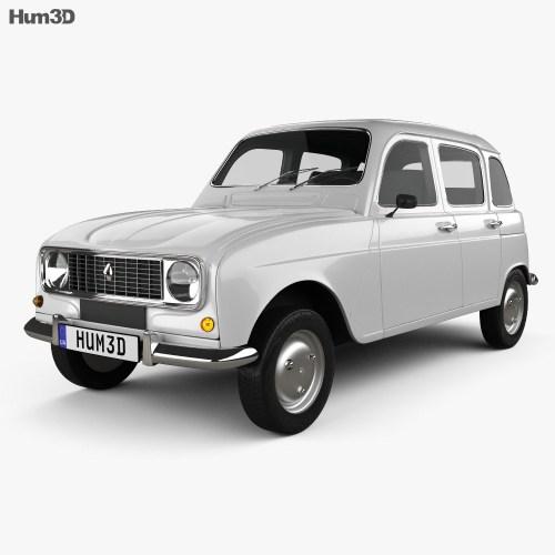 small resolution of renault 4 r4 hatchback 1974 3d model