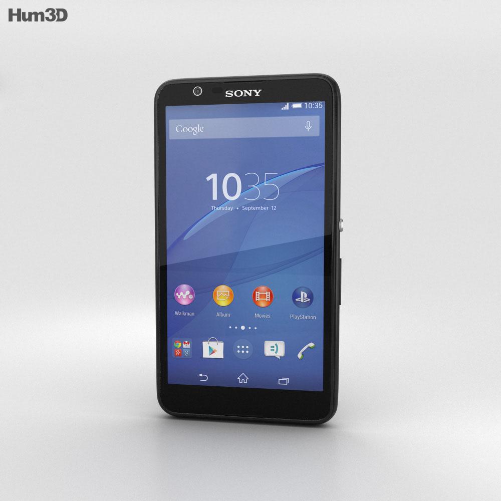 Sony Xperia E4 Black 3D model - Electronics on Hum3D