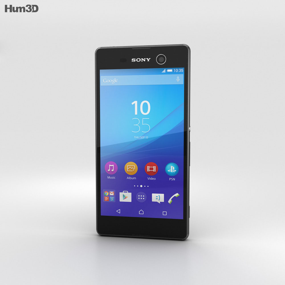 Sony Xperia M5 Black 3D model - Hum3D