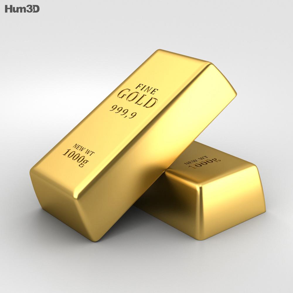 gold bar 3d model