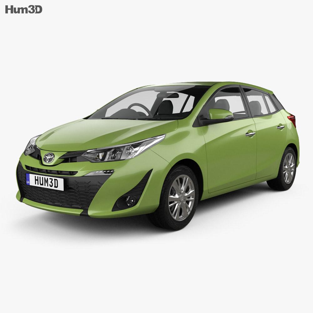 Toyota Yaris THspec hatchback 2018 3D model  Vehicles on