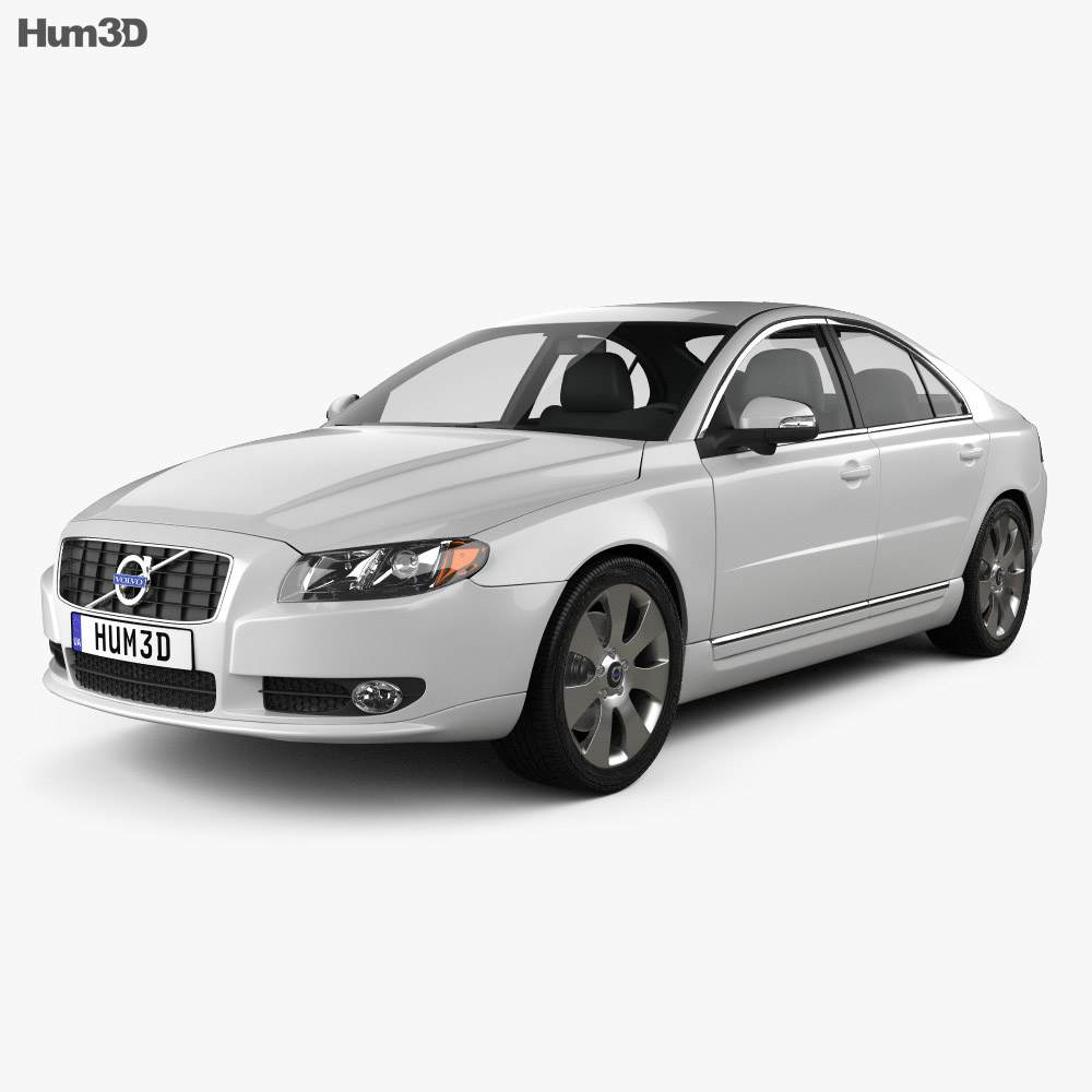 hight resolution of volvo s80 2011 3d model