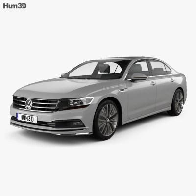 Volkswagen Phideon 2017 3D model - Humster3D