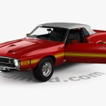 360 View Of Ford Mustang Gt500 Shelby Convertible With Hq Interior 1969 3d Model Hum3d Store