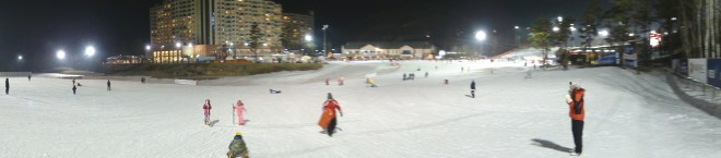 Oak valley ski resort south korea - night 1