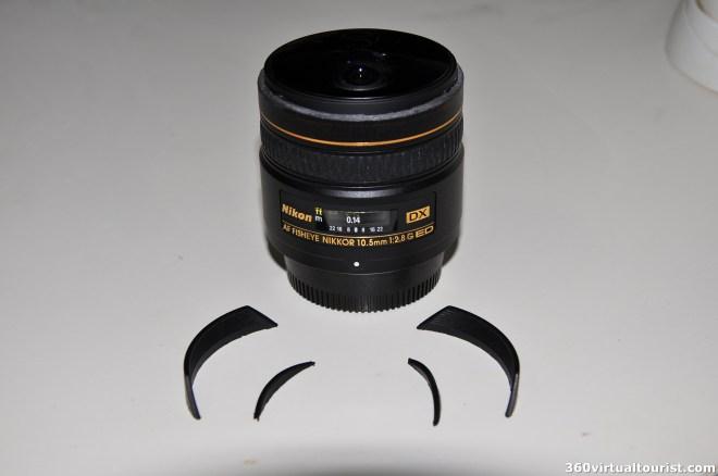 nikkor 10.5mm sawed-off lens hood