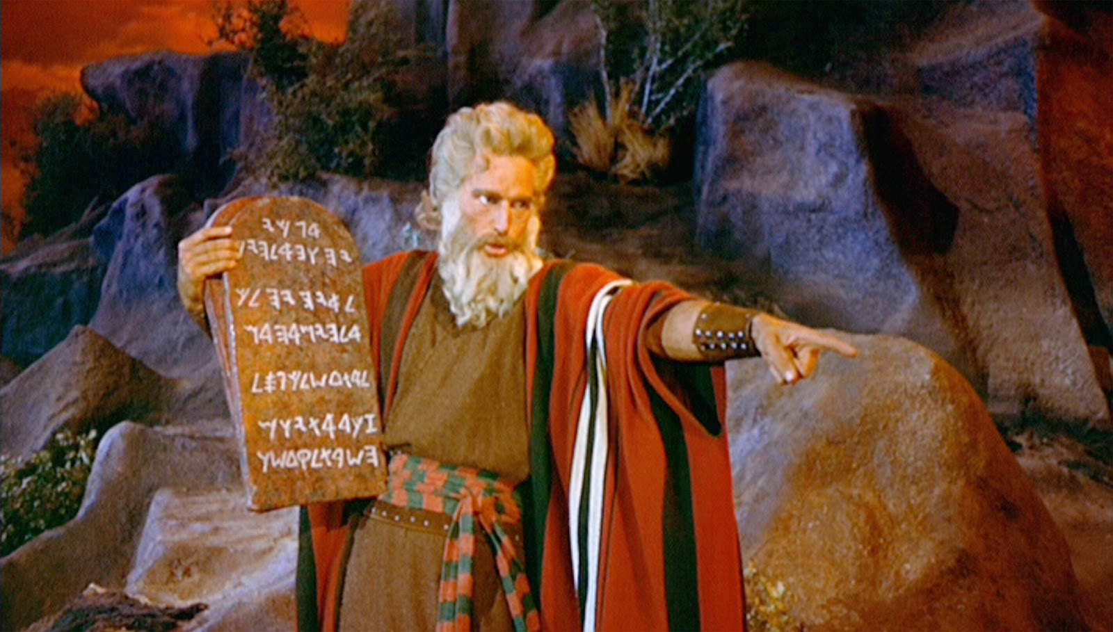 Image result for moses with ten commandments