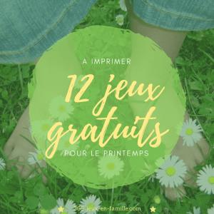 12 jeux gratuits à imprimer pour le printemps
