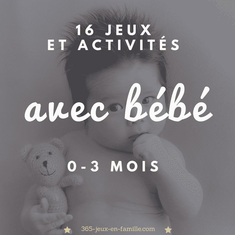 16 jeux et activités à faire avec bébé (0-3 mois)