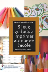 Read more about the article 5 jeux gratuits à imprimer autour de l'école