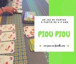 Un jeu de cartes dès la maternelle : Piou Piou