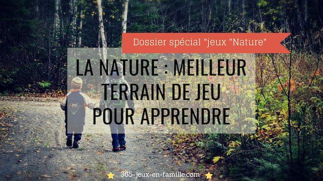 Avec notre rythme de vie, on a tendance à oublier que la nature est le terrain de jeu et d'apprentissages le plus simple et le meilleur pour nos enfants !