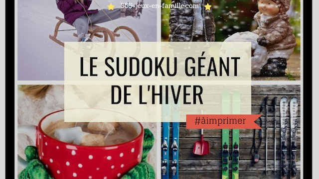 Le sudoku de l'hiver géant à télécharger !