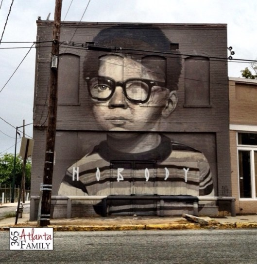 Day 12 - Living Walls Atlanta (Murals Graffiti) - an idea a day from 365 Atlanta Family