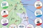Map of the Barrington Art Festival Exhibitors