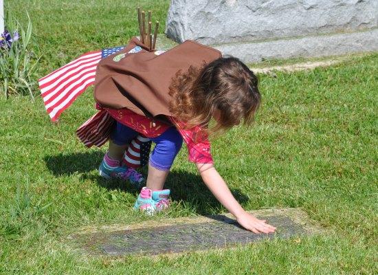 Veterans' Graves at Evergreen Cemetery in Barrington, Illinois