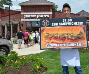 71.  Dollar Subs at Jimmy John's!!!