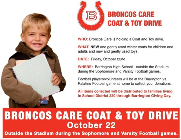 Broncos Care Coat & Toy Drive