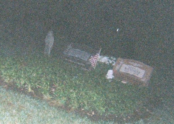 Ghostly Figure at White Cemetery in Barrington