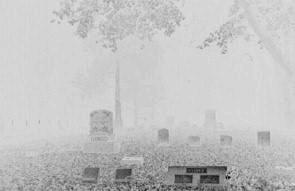 Hazy White Cemetery