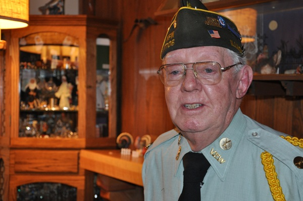 WWII Veteran, Burnell Wollar, at his Barrington Home