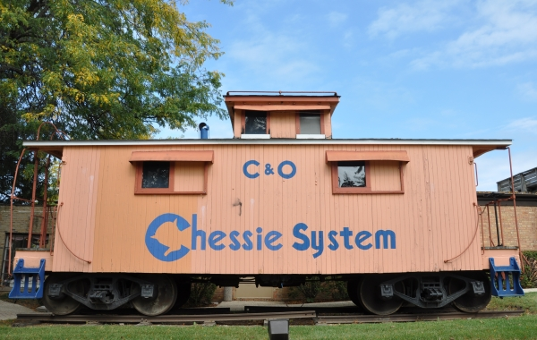 Antique Chessie System Caboose at The Ice House Mall