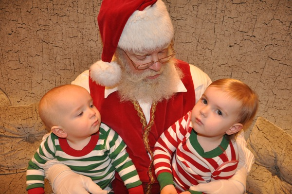Kids Visit Santa
