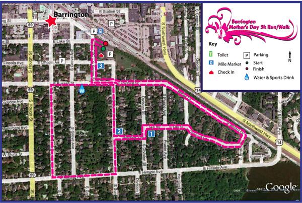 5K Mother's Day Run Walk in Barrington, Illinois