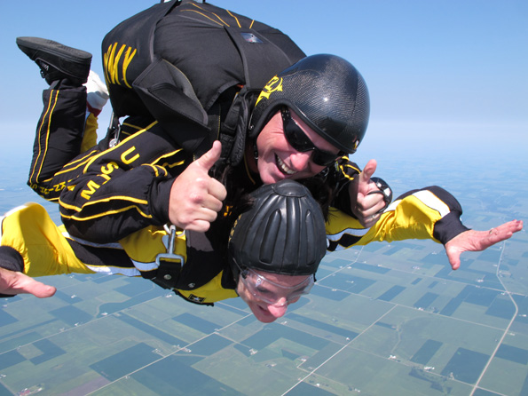 Karen Darch Skydiving, Courtesy of The U.S. Army Golden Knights