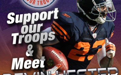 84.  Bring a Toy to Win a Visit with Devin Hester TONIGHT