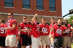 BHS Football Team on Parade - Susan McConnell