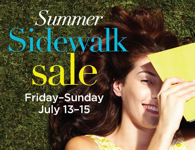 Post - Summer Sidewalk Sale
