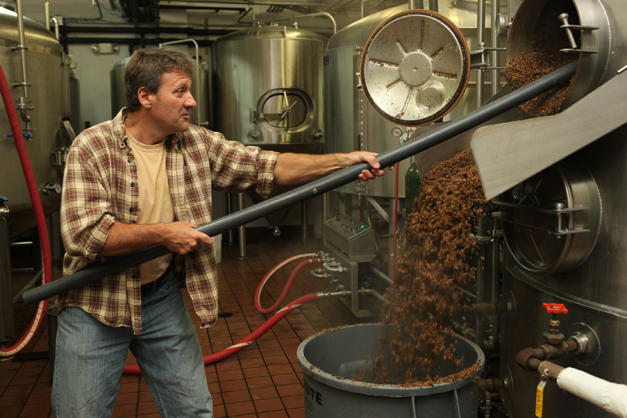 Mike Kainz brewing beer at the Wild Onion Brewery in Lake Barrington - Courtesy of Lake Barrington