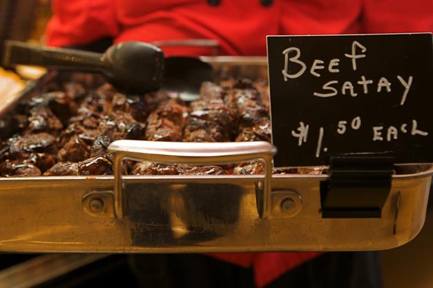 Heinen's Beef Satay Skewers - Photographed by Julie Linnekin