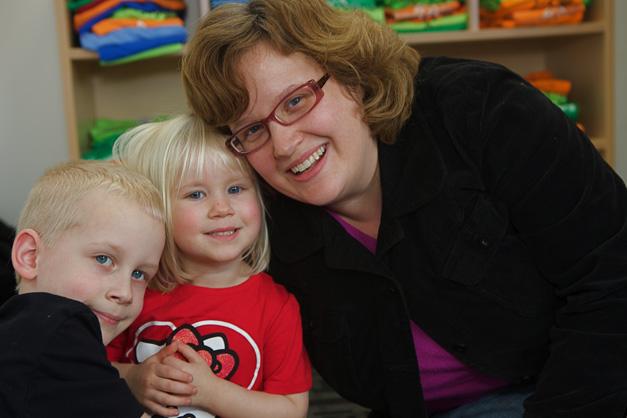 Evan, Iris and Jill Weisheit, Photographed by Julie Linnekin