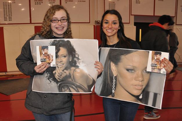 Nicole Zero & Athena Demeros with Signed Rihanna Posters