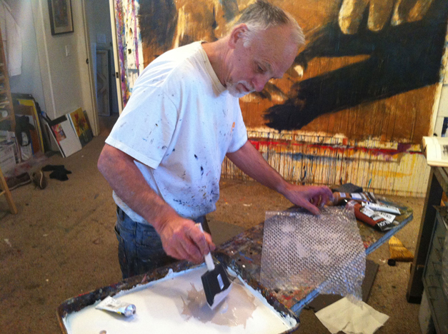 Passion Art Walk Commissioned Artist, Hyatt Moore in His Studio - Courtesy of HyattMoore.com