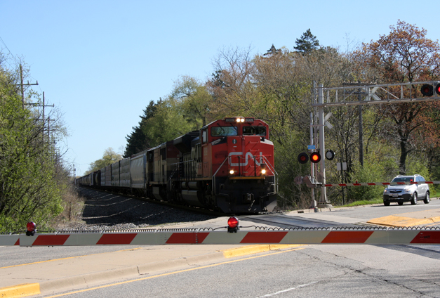 Canadian National Train at Rte. 14 Crossing - Courtesy of Village of Barrington