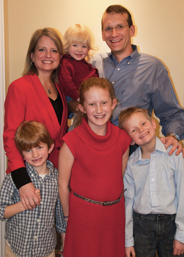 Wendy Farley with her Family