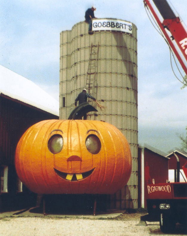 """Happy Jack"" Placed on the Goebbert's Silo, 1979"
