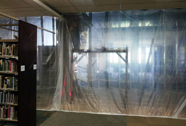 Construction Underway at the Barrington Area Library- Courtesy of the Barrington Area Library