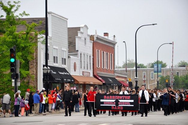 Middle School Band Marches in the Barrington Memorial Day Parade