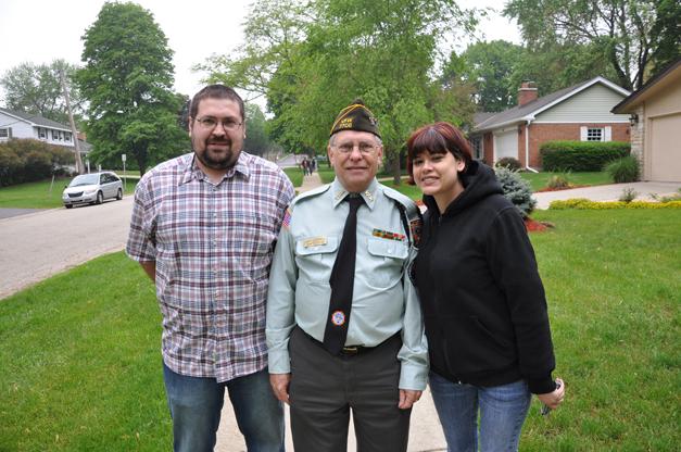 Veteran Charlie Vogel with Family Members on Memorial Day