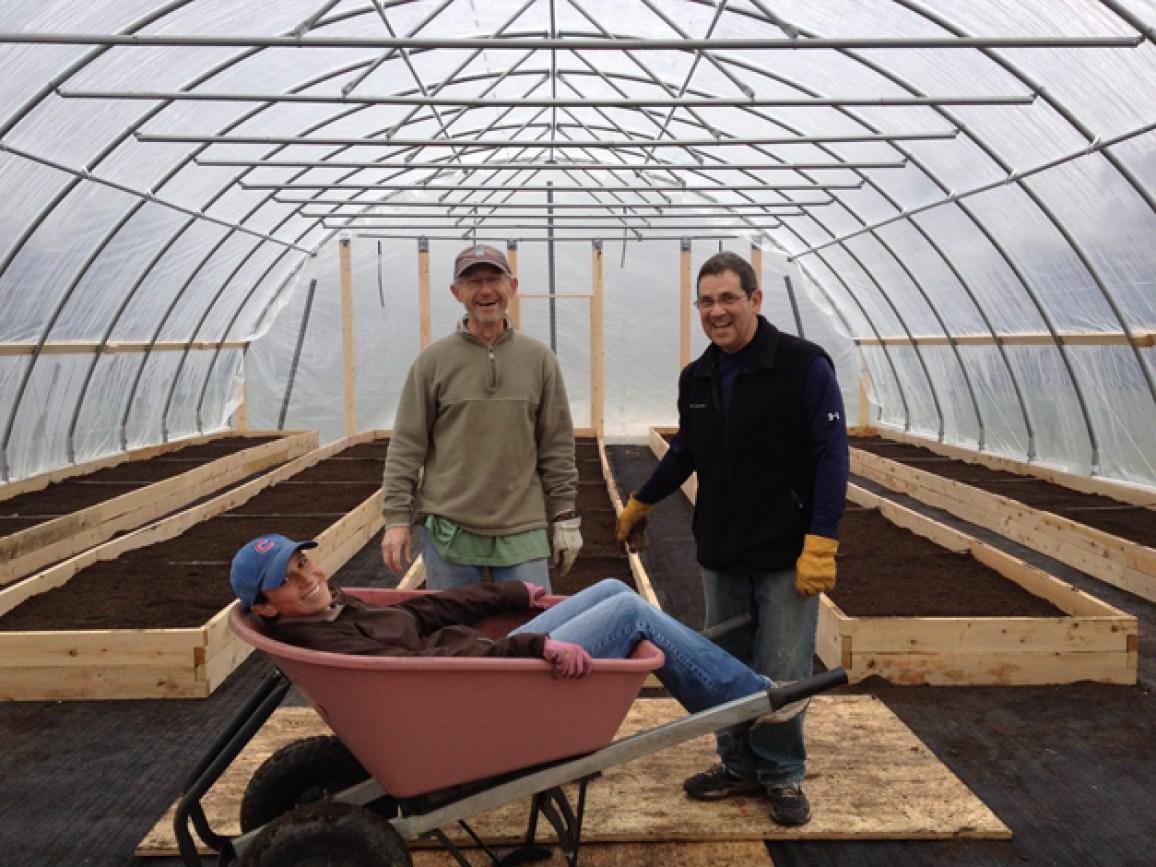 Inside Smart Farm's Hoop House on the Good Shepherd Hospital Grounds - Courtesy of Smart Farm