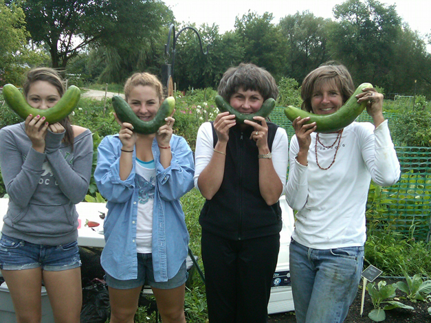 Kathy Gabelman on the Right with Fellow Smart Farm Volunteers