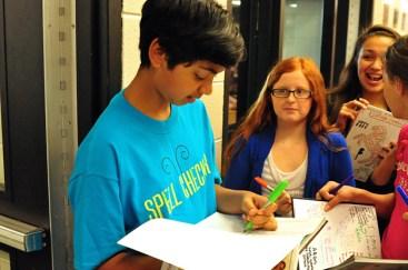 Pranav Sivakumar Signing Autographs - Courtesy of Barrington 220