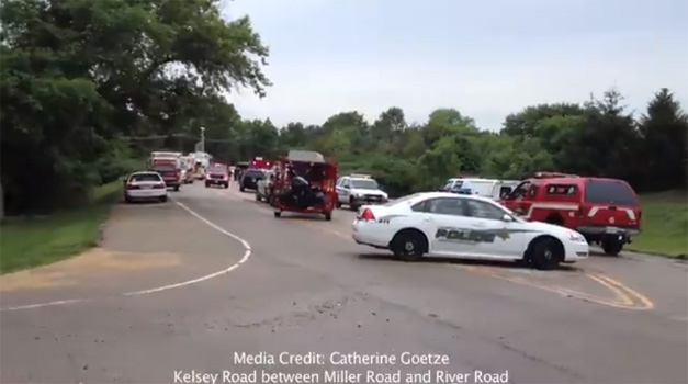 Kelsey Road Closed Between Miller and River Roads During Search - Courtesy of Catherine Goetze