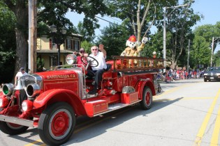 Jim Feit in the Barrington 4th of July Parade - Photographed by Bob Lee