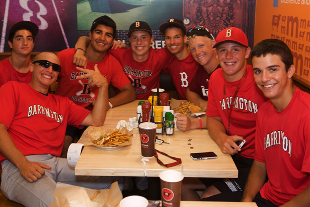 Post - Barrington Baseball Team at Meatheads