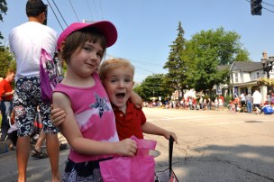 Waiting for the Start of the Barrington 4th of July Parade, 2013